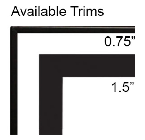 """White Mountain Hearth DF362VBL 1.5"""" Beveled Front Trim for Boulevard 36"""" Linear Fireplaces"""