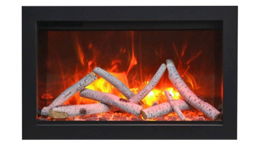 Amantii TRD Traditional Series Electric Fireplace with Decorative Media - Choice of Size