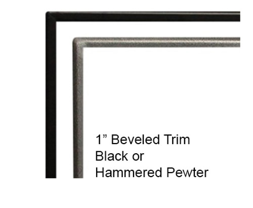 "White Mountain Hearth DF48BL 1"" Beveled Black Front Trim for Boulevard 48"" Direct Vent Linear Fireplaces"