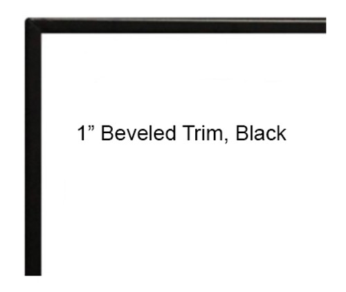 "White Mountain Hearth DF36LBL 1"" Beveled Front Trim for Boulevard 36"" Direct Vent Linear Fireplaces - Black"