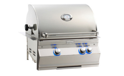 "Fire Magic A430i-8EAP Aurora 24"" Built-In Gas Grill with Backburner, Rotisserie Kit - Liquid Propane"