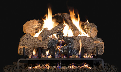 """RH Peterson Real-Fyre CHNA24 24"""" Charred Angel Oak Replacement Logs for Vented Burners (LOGS ONLY)"""