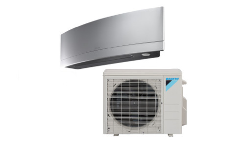 Daikin FTXR09TVJUS / RX09RMVJU9 Emura Series 9000 BTU Heat Pump 18 SEER Single Zone Mini Split System - Silver