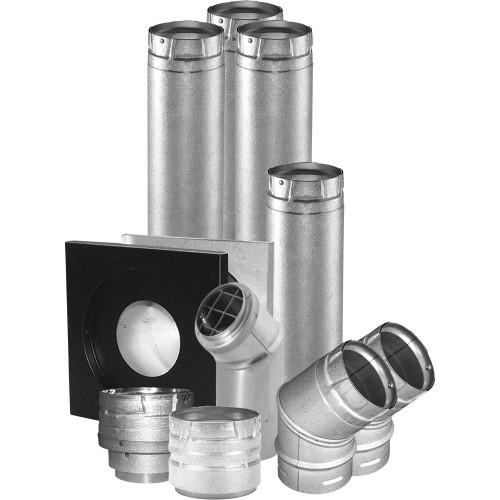 "DuraVent 4UHK-KVNT 4"" Horizontal Unit Heater Vent Kit - Stainless Steel"