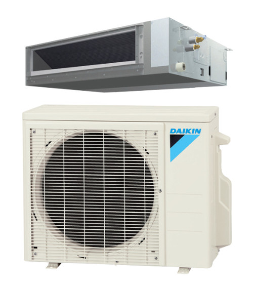 Daikin FDMQ12RVJU / RXL12QMVJU 12000 BTU Concealed Ducted Ceiling Single Zone Mini Split with Heat Pump System