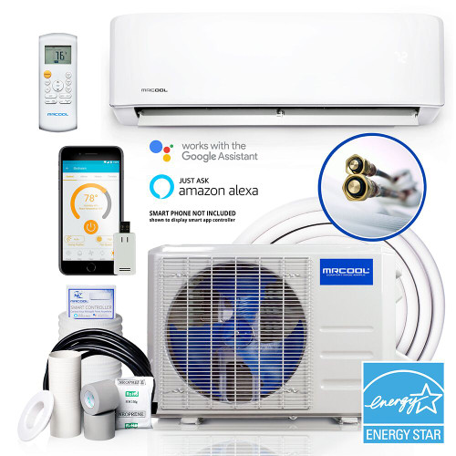 MRCOOL DIY-12 12000 BTU DIY 3rd Gen Energy Star Series Single Zone 22 SEER Mini Split with Heat Pump, WiFi SmartController, 115 Volt