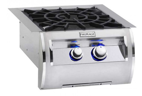 Fire Magic 19-5B2N-0 Built-In Echelon Power Burner with Porcelain Cast Iron Grid- Natural Gas