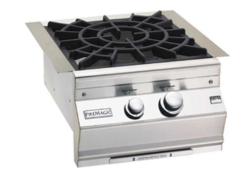 Fire Magic 19-7B2N-0 Built-In Aurora-Style Power Burner with Porcelain Cast Iron Grid - Natural Gas