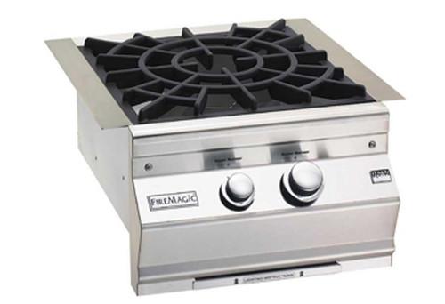 Fire Magic 19-7B2P-0 Built-In Aurora-Style Power Burner with Porcelain Cast Iron Grid - Liquid Propane