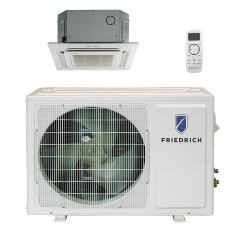 Friedrich FPHC363A 36000 BTU Floating Air Pro Series Single Zone Mini Split Ceiling Cassette with Built-In WiFi - Heat and Cool