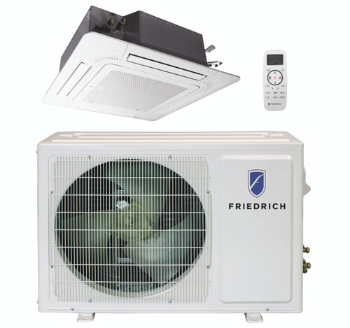 Friedrich FPHC093A 9000 BTU Floating Air Pro Series Single Zone Ceiling Cassette Mini Split System with Built-In WiFi - Heat and Cool