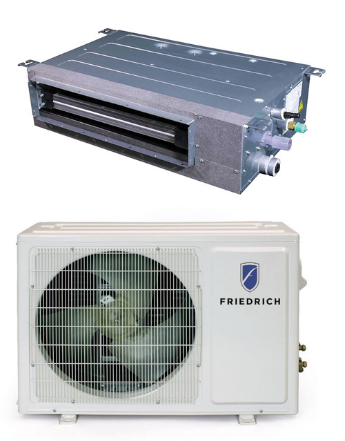 Friedrich FPHD123 12000 BTU Floating Air Pro Series Single Zone Concealed Ducted Ceiling Mini Split System - Heat and Cool
