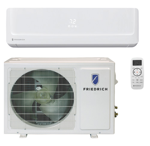 Friedrich FPHW091A 9000 BTU Floating Air Pro Series Single Zone Mini Split with Built-In WiFi - Heat and Cool - Energy Star - 115V