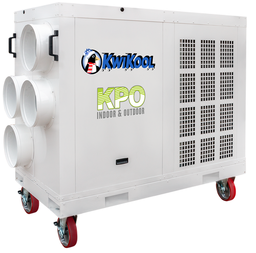 Kwikool KPO12-43 135,000 BTU Indoor/Outdoor High Static Portable Air Conditioner - 460 Volt/3 Phase