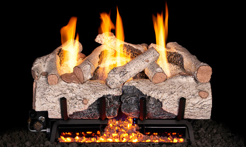 """RH Peterson Real-Fyre CHAB16/18 18"""" Charred Alpine Birch Replacement Logs for Vented Burners (LOGS ONLY)"""
