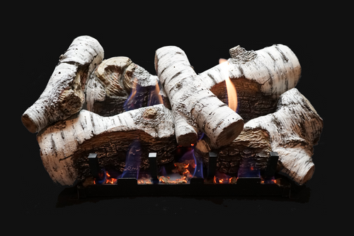 White Mountain Hearth Burncrete Birch Log Set - Choice of Vent Free Burner