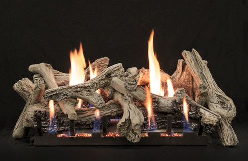 "White Mountain Hearth LS-24CD 24"" Driftwood Replacement Logs for Vented or Vent Free Slope Glaze Burners (LOGS ONLY)"
