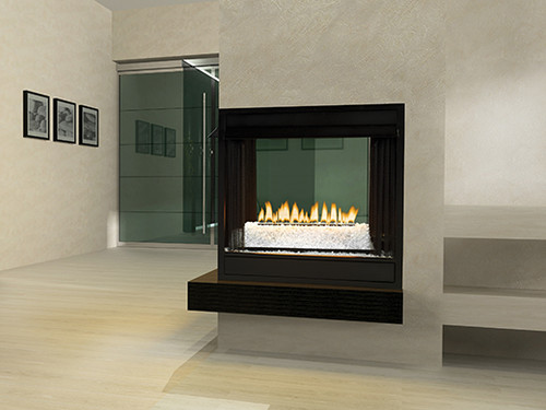 "White Mountain Hearth VFRU-24 24"" Loft Series Contemporary Multi-Sided Vent Free Millivolt Burner - Remote Ready - Choice of Fuel Type and Media"