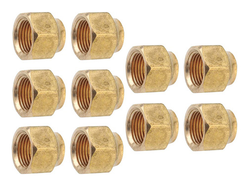 """THS 5/8"""" SAE Brass Flare Nut - Set of 10"""