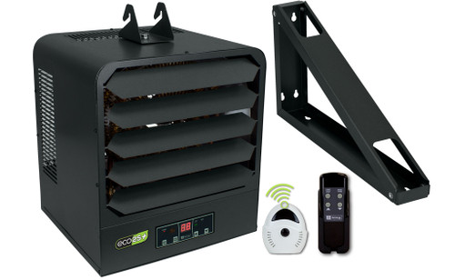 King KB2410-1-ECO2S-PLUS 10kW 2-Stage Electric Garage Heater with Remote Sensor - 208/240V