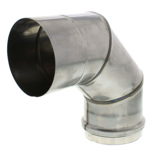 "5"" Round 90° Elbow Vent Pipe Category III Stainless"