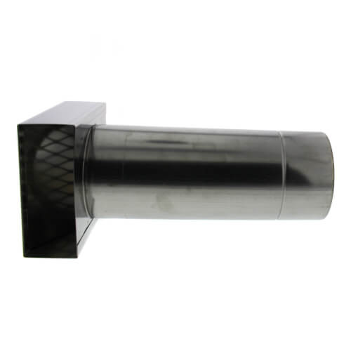 """4"""" Horizontal Termination Box Vent Pipe Category III Stainless"""