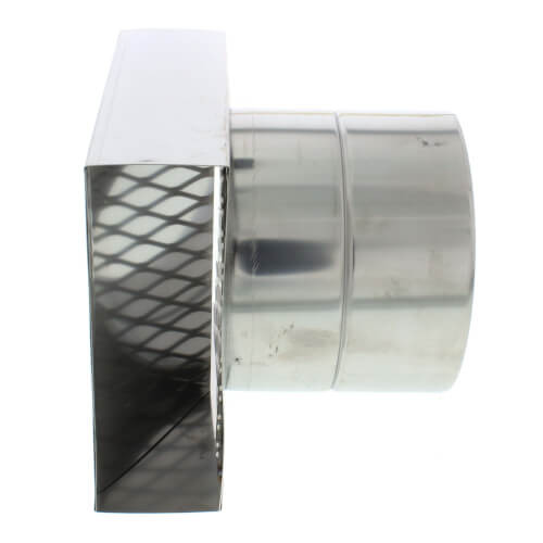 """5"""" Horizontal Termination Box Vent Pipe Category III Stainless"""