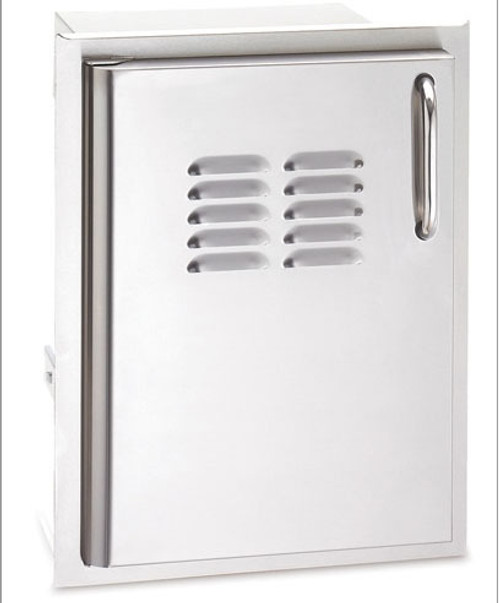 """American Outdoor Grill 20-14-SSDLV 20"""" x 14"""" Louvered Single Storage Door with Left Hinge"""
