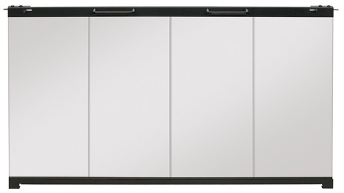 "Dimplex BFDOOR33BLKSM 33"" Bi-Fold Single-Pane Glass Door for Built-In Firebox"