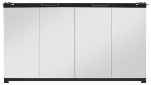 "Dimplex BFDOOR39BLKSM 39"" Single-Pane Bi-Fold Glass Door for Built-In Firebox"