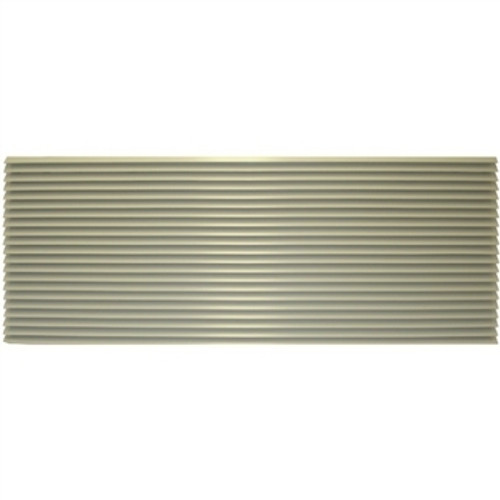 Amana AGK01TB Aluminum Architectural Grille - Stonewood Beige. This grille matched the color of the wall sleeve. A grille is required for new installations.