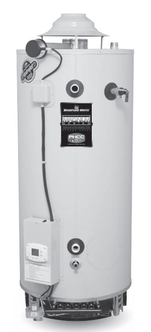 Bradford White D100T1993N 98 Gallon, Damper Atmospheric Vent Commercial Water Heater, Natural Gas