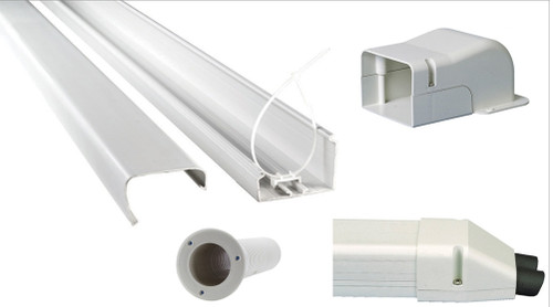 SpeediChannel Dual Zone Mini Split Line Set Cover Installation Kit