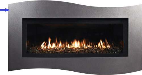 White Mountain Hearth DF41WHP Tidewater Decorative Front with Barrier Screen - Hammered Pewter