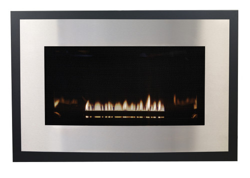 White Mountain Hearth DFB25RSS Eclipse Decorative Front with Barrier Screen - Stainless Steel