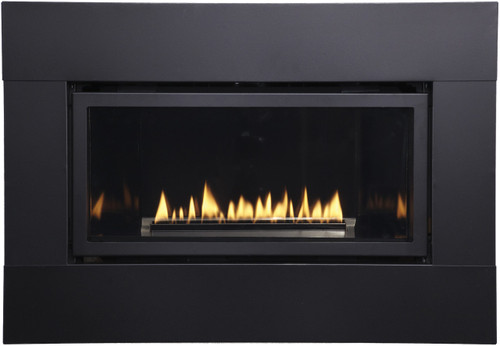 White Mountain Hearth DFQ25M4BL Decorative Metal Surround with Barrier Screen - Matte Black