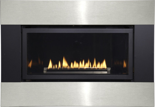 White Mountain Hearth DFQ33M4BLSS Decorative Metal Surround with Barrier Screen - Matte Black and Stainless Steel