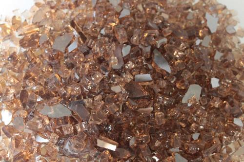 White Mountain Hearth DG1BKP Crushed Copper Reflective Decorative Glass