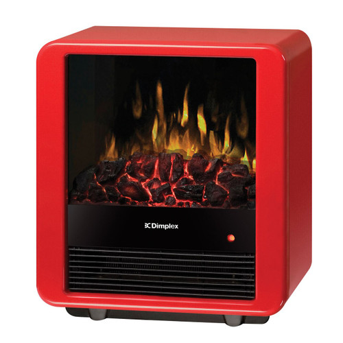 Dimplex DMCS13R Mini Cube Electric Fireplace Stove with Embers Bed