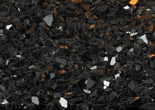 White Mountain Hearth DG1BKP Crushed Black Polished Decorative Glass