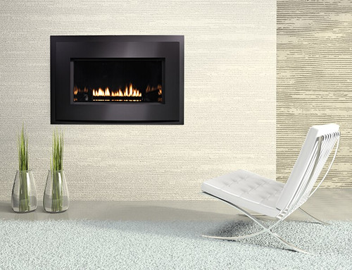 "White Mountain Hearth DVL25FP32N 25"" Small Loft Series Direct Vent Fireplace, Natural Gas, Millivolt Burner"