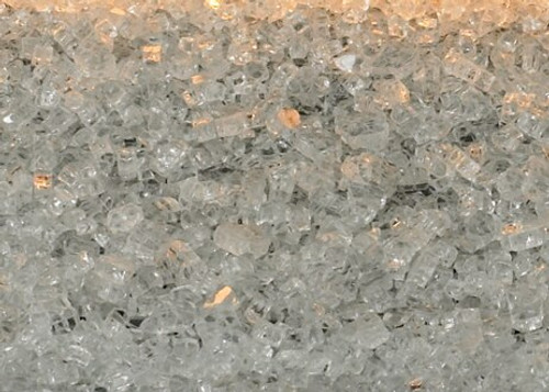 White Mountain Hearth DG1CLF Crushed Clear Frost Decorative Glass