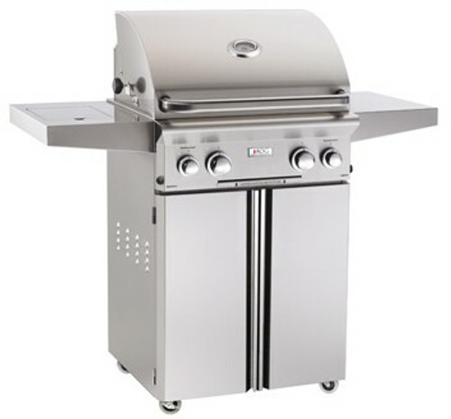 """American Outdoor Grill 24PCL 24"""" Portable/Freestanding Liquid Propane Grill with Rotisserie"""