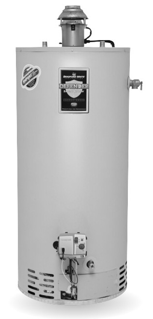 Bradford White RG1D40S6X 40 Gallon, Damper Atmospheric Vent Water Heater, Liquid Propane