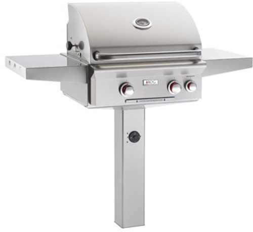 """American Outdoor Grill 24PGT-00SP 24"""" In-Ground Post Mount Liquid Propane Grill"""