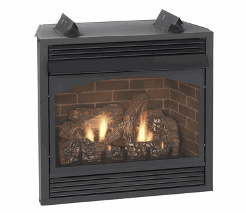 Empire VFP32BP30 Vail Premium 32 Vent-Free Propane Fireplace with Millivolt, Remote Ready Burner