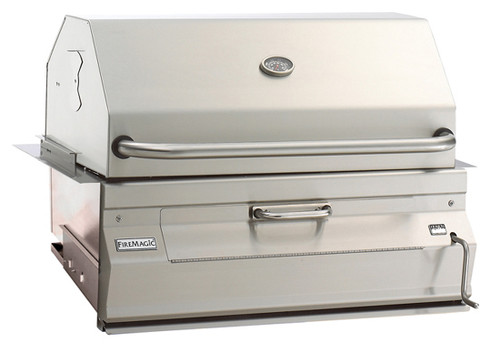"""Fire Magic 14-SC01C-A Legacy 30"""" Built-In Charcoal Grill/Smoker"""