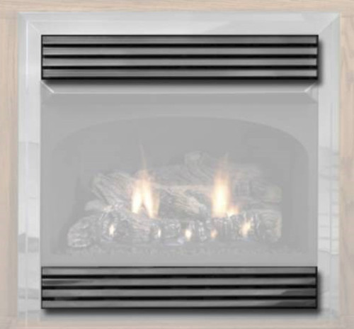 White Mountain Hearth VPL26HP Hammered Pewter Slatted Louvers for Vail 26