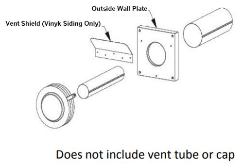 Empire Comfort Systems VSK-2 Vinyl Siding Vent Kit