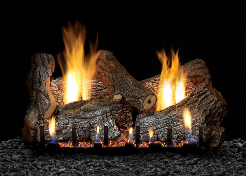 White Mountain Hearth Sassafras Log Set - Choice of Vented Burner